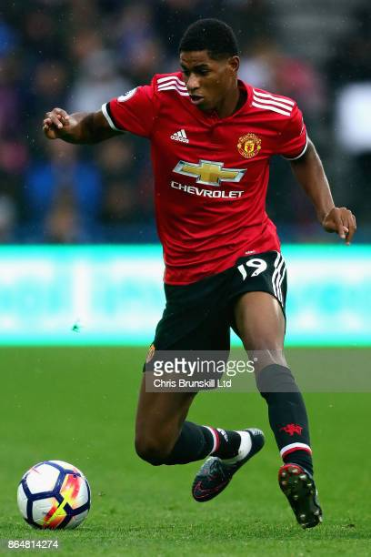 Marcus Rashford of Manchester United in action during the Premier League match between Huddersfield Town and Manchester United at John Smith's...
