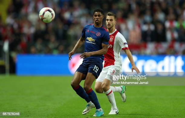 Marcus Rashford of Manchester United in action during UEFA Europa League Final match between Ajax against Manchester United at Friends Arena on May...