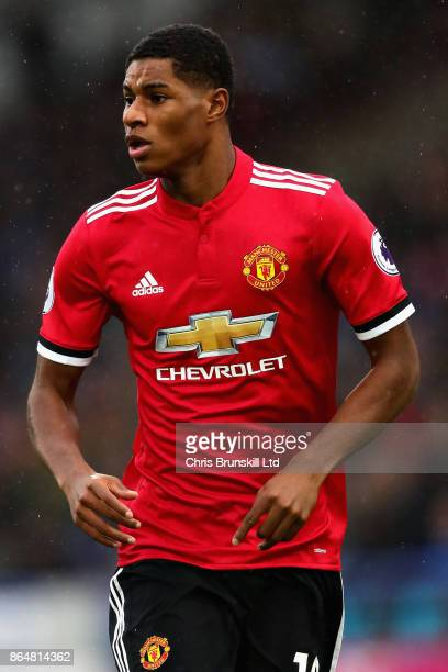 Marcus Rashford of Manchester United looks on during the Premier League match between Huddersfield Town and Manchester United at John Smith's Stadium...