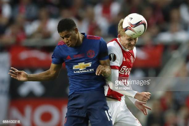 Marcus Rashford of Manchester United Matthijs de Ligt of Ajaxduring the UEFA Europa League final match between Ajax Amsterdam and Manchester United...
