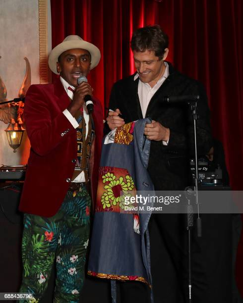 Marcus Samuelsson and Randi Levine attends the launch of new restaurant 'Red Rooster' at The Curtain on May 25 2017 in London England