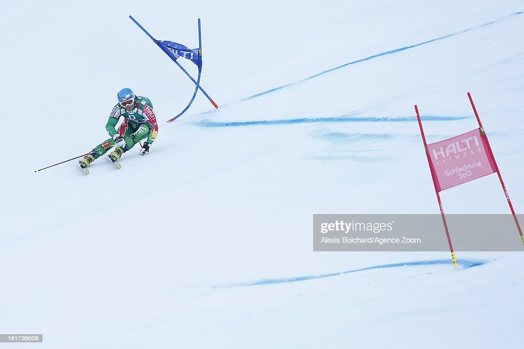 Marcus Sandell of Finland competes during the Audi FIS Alpine Ski World Championships Men's Giant slalom on February 15, 2013 in Schladming, Austria.