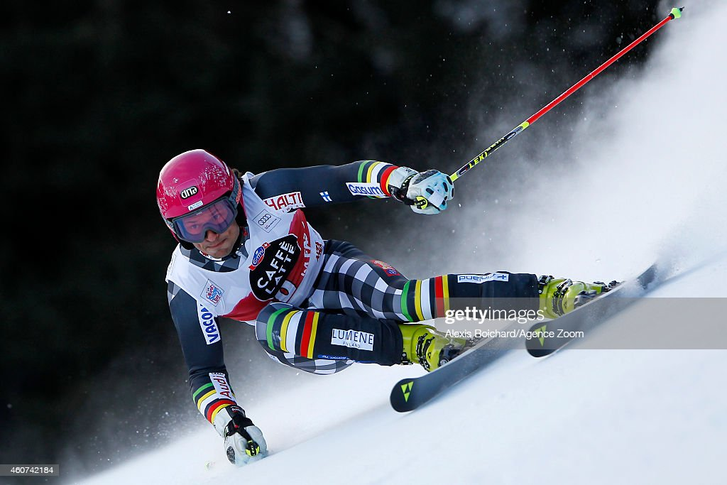 <a gi-track='captionPersonalityLinkClicked' href=/galleries/search?phrase=Marcus+Sandell&family=editorial&specificpeople=4153799 ng-click='$event.stopPropagation()'>Marcus Sandell</a> of Finland competes during the Audi FIS Alpine Ski World Cup Men's Giant Slalom on December 21, 2014 in Alta Badia, Italy.