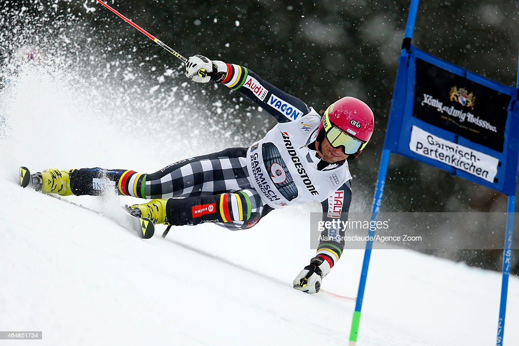 <a gi-track='captionPersonalityLinkClicked' href=/galleries/search?phrase=Marcus+Sandell&family=editorial&specificpeople=4153799 ng-click='$event.stopPropagation()'>Marcus Sandell</a> of Finland competes during the Audi FIS Alpine Ski World Cup Men's Giant Slalom on March 01, 2015 in Garmisch-Partenkirchen, Germany.