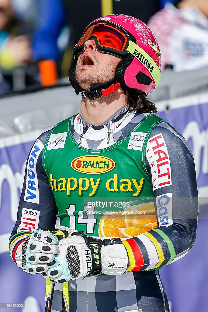 <a gi-track='captionPersonalityLinkClicked' href=/galleries/search?phrase=Marcus+Sandell&family=editorial&specificpeople=4153799 ng-click='$event.stopPropagation()'>Marcus Sandell</a> of Finland competes during the Audi FIS Alpine Ski World Cup Men's Giant Slalom on March 14, 2015 in Kranjska Gora, Slovenia.