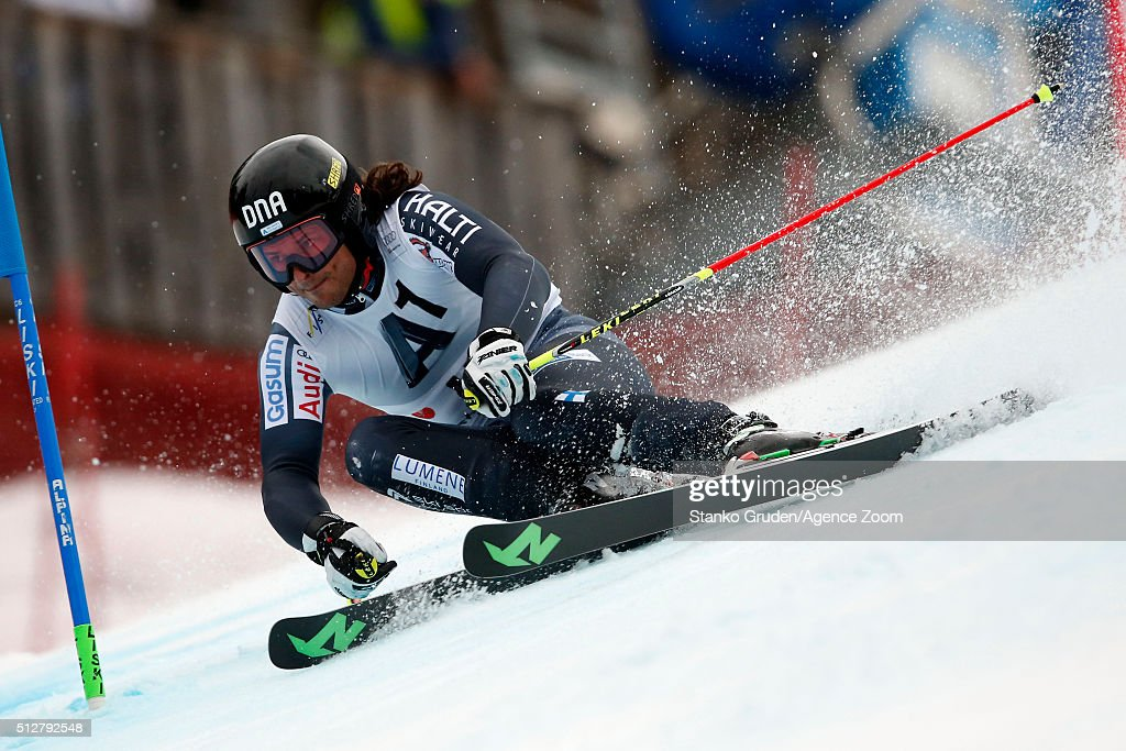 <a gi-track='captionPersonalityLinkClicked' href=/galleries/search?phrase=Marcus+Sandell&family=editorial&specificpeople=4153799 ng-click='$event.stopPropagation()'>Marcus Sandell</a> of Finland competes during the Audi FIS Alpine Ski World Cup Men's Giant Slalom on February 28, 2016 in Hinterstoder, Austria.