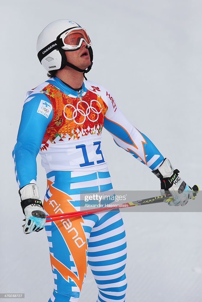 <a gi-track='captionPersonalityLinkClicked' href=/galleries/search?phrase=Marcus+Sandell&family=editorial&specificpeople=4153799 ng-click='$event.stopPropagation()'>Marcus Sandell</a> of Finland reacts during the Alpine Skiing Men's Giant Slalom on day 12 of the Sochi 2014 Winter Olympics at Rosa Khutor Alpine Center on February 19, 2014 in Sochi, Russia.