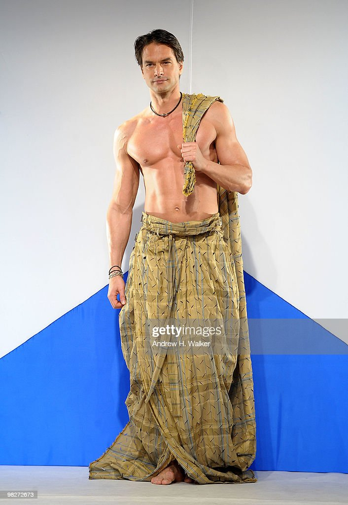 Marcus Schenkenberg walks the runway at the 8th annual 'Dressed To Kilt' Charity Fashion Show presented by Glenfiddich at M2 Ultra Lounge on April 5...