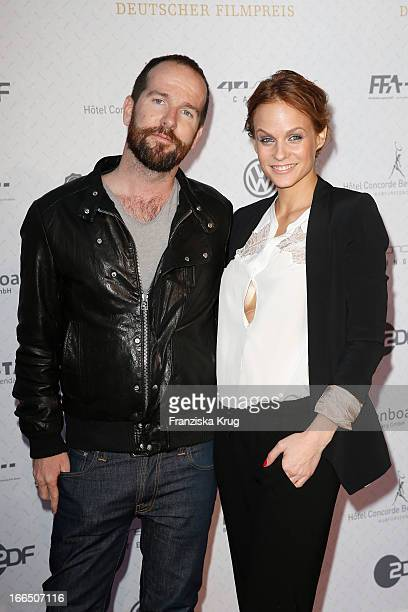 Marcus Schueler and Mirjam Weichselbraun attend the Lola German Film Award 2013 Nominees Reception on April 13 2013 at 40seconds in Berlin Germany