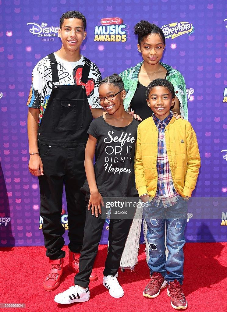 Marcus Scribner, Marsai Martin, Yara Shahidi, and Miles Brown attend the 2016 Radio Disney Music Awards on April 30, 2016 in Los Angeles, California.