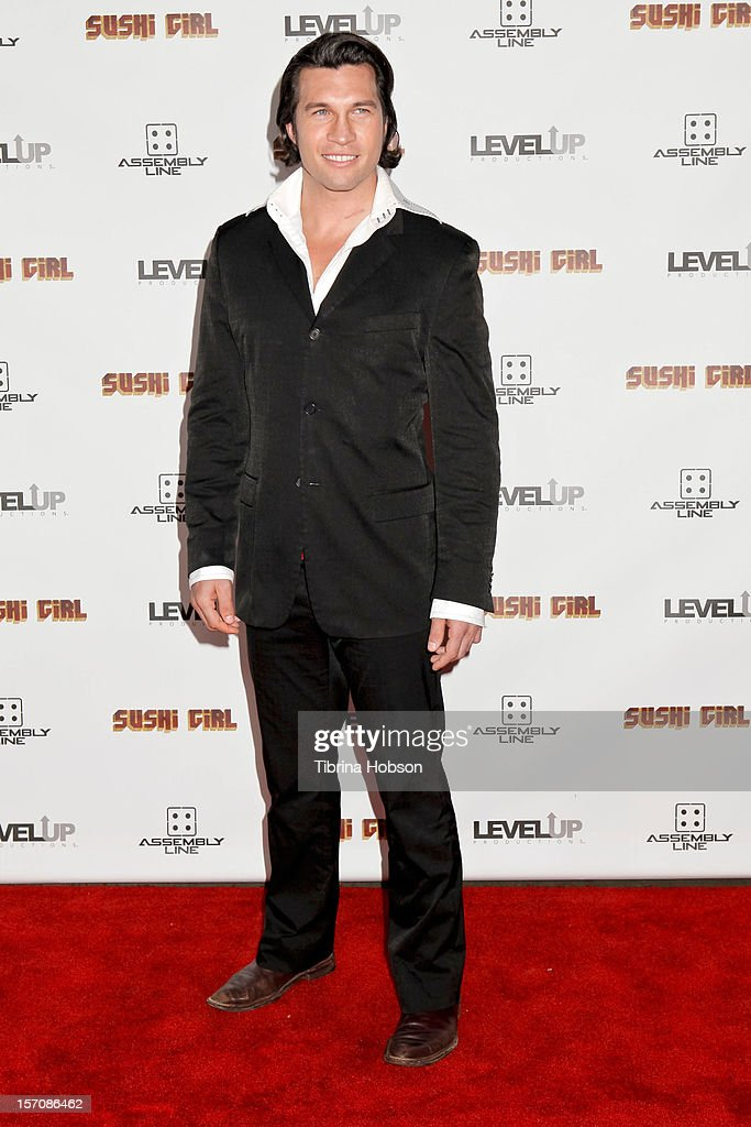 Marcus Shirock attends the 'Sushi Girl' Los Angeles premiere at Grauman's Chinese Theatre on November 27, 2012 in Hollywood, California.