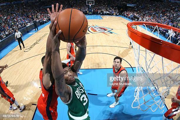 Marcus Smart of the Boston Celtics dunks againt Oklahoma City Thunder on November 15 2015 at Chesapeake Energy Arena in Oklahoma City Oklahoma NOTE...