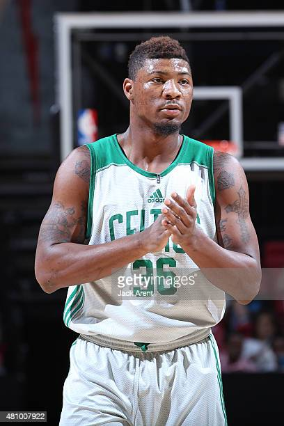 Marcus Smart of the Boston Celtics during the game against the Portland Trail Blazers on July 16 2015 at Thomas And Mack Center Las Vegas Nevada NOTE...