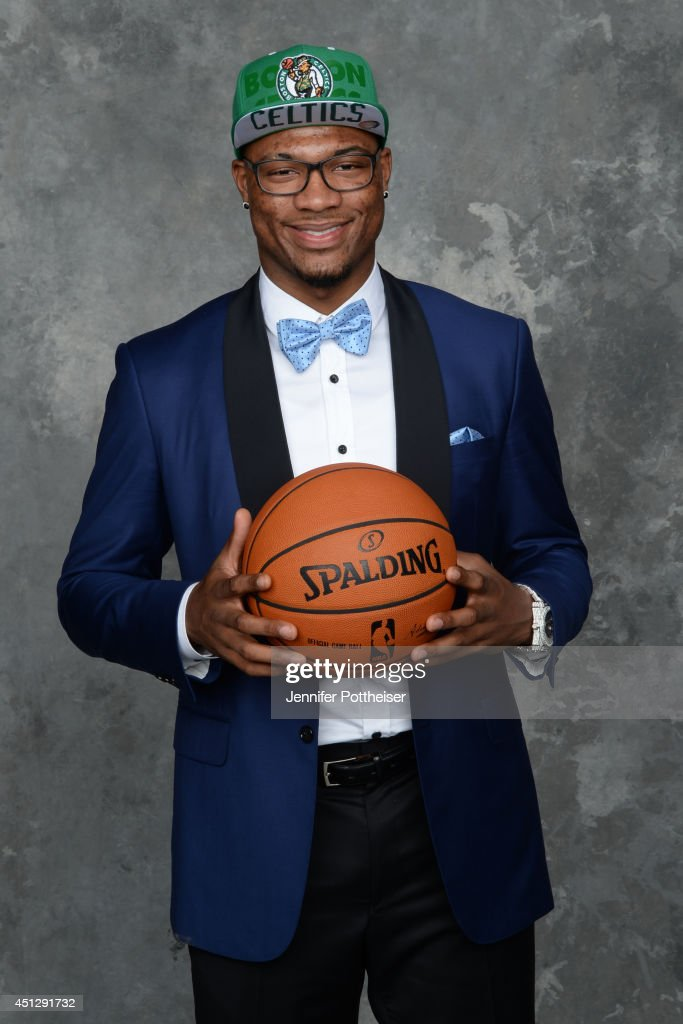 <a gi-track='captionPersonalityLinkClicked' href=/galleries/search?phrase=Marcus+Smart&family=editorial&specificpeople=7887125 ng-click='$event.stopPropagation()'>Marcus Smart</a>, the sixth pick overall by the Boston Celtics, poses for a portrait during the 2014 NBA Draft at the Barclays Center on June 26, 2014 in the Brooklyn borough of New York City.