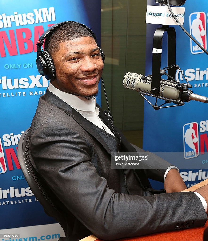 Marcus Smart visits at SiriusXM Studios on May 20, 2014 in New York City.
