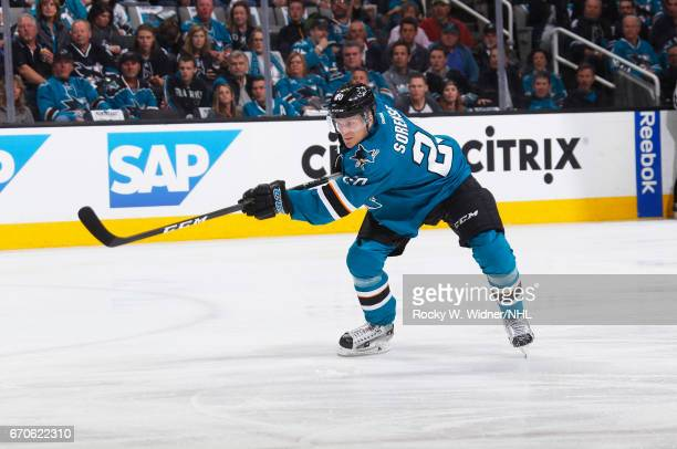 Marcus Sorensen of the San Jose Sharks skates against the San Jose Sharks in Game Four of the Western Conference First Round during the 2017 NHL...