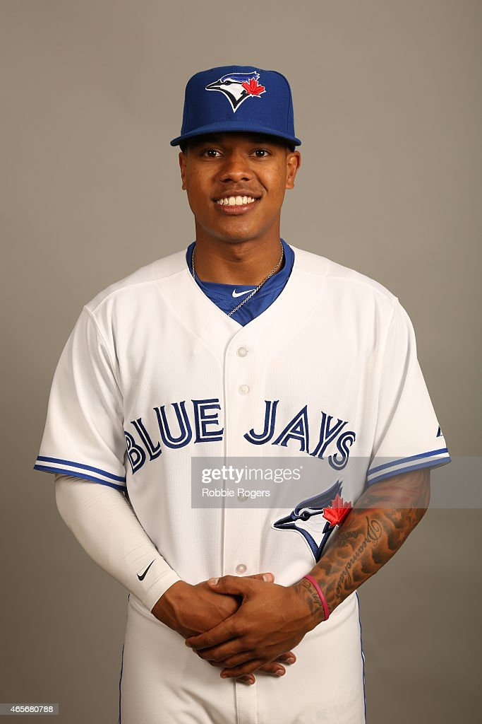 <a gi-track='captionPersonalityLinkClicked' href=/galleries/search?phrase=Marcus+Stroman&family=editorial&specificpeople=7916987 ng-click='$event.stopPropagation()'>Marcus Stroman</a> #6 of the Toronto Blue Jays poses during Photo Day on Saturday, February 28, 2015 at Florida Auto Exchange Stadium in Dunedin, Florida.