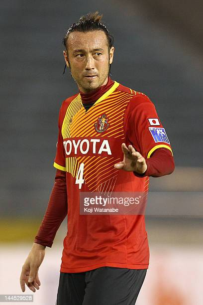 Marcus Tanaka of Nagoya Grampus in action during the AFC Asian Champions League Group G match between Nagoya Grampus and Central Coast Mariners at...