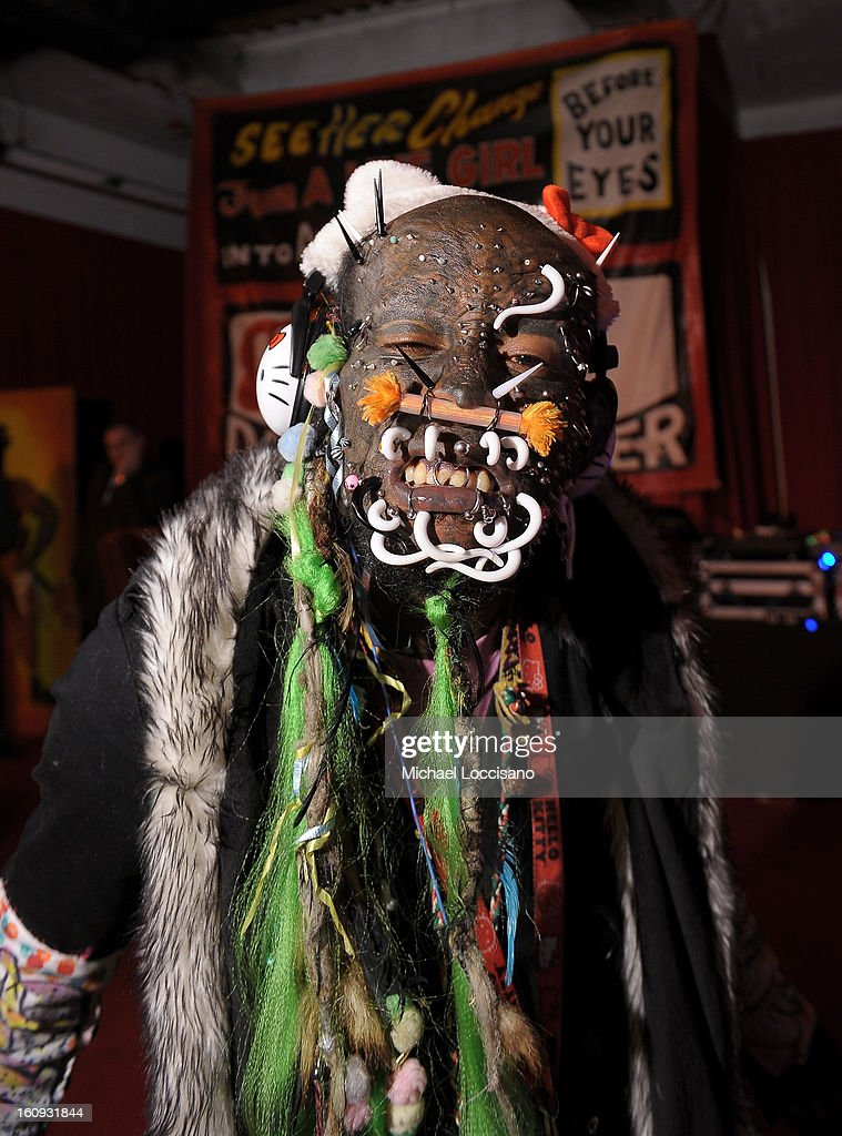 Marcus 'The Creature' attends Immortal Love Pop-up Experience - Freakshow & Immortalized on February 7, 2013 in New York City.