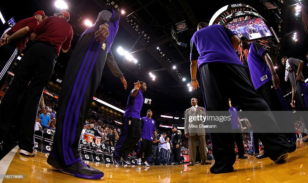 <a gi-track='captionPersonalityLinkClicked' href=/galleries/search?phrase=Marcus+Thornton+-+Basketball+Player+Born+1987&family=editorial&specificpeople=4679329 ng-click='$event.stopPropagation()'>Marcus Thornton</a> #23 of the Sacramento Kings is introduced during a game against the Miami Heat at American Airlines Arena on February 26, 2013 in Miami, Florida.
