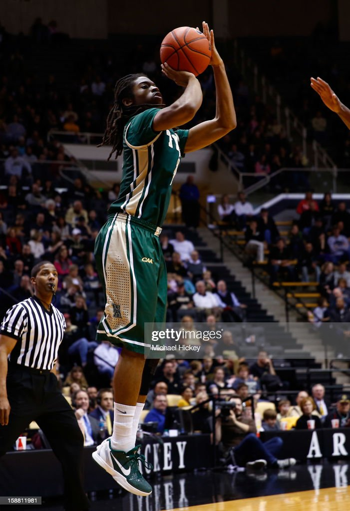 Marcus Thornton #3 of the William & Mary Tribe shoots the ball against the Purdue Boilermakers at Mackey Arena on December 29, 2012 in West Lafayette, Indiana.