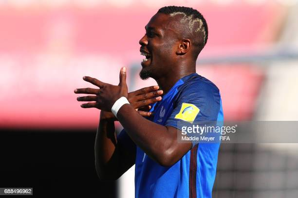 Marcus Thuram of France celebrates after scoring a goal during the FIFA U20 World Cup Korea Republic 2017 group E match between France and Vietnam at...
