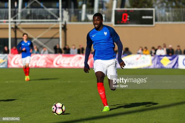Marcus Thuram of France during the 4 Nations Tournament U20 match between France and Portugal on March 28 2017 in Ploufragan France