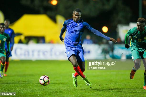 Marcus Thuram of France during the friendly U20 match between France and Senegal on March 23 2017 in SaintMalo France