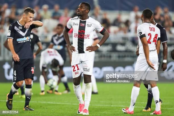 Marcus Thuram of Guingamp during the Ligue 1 match between FC Girondins de Bordeaux and EA Guingamp at Stade Matmut Atlantique on September 23 2017...