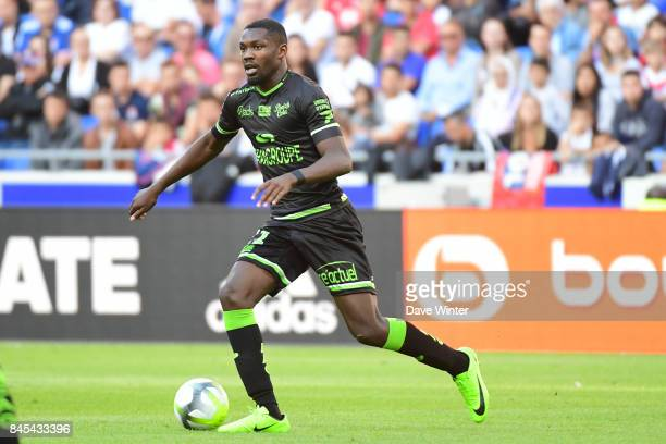 Marcus Thuram of Guingamp during the Ligue 1 match between Olympique Lyonnais and EA Guingamp at Parc Olympique on September 10 2017 in Lyon France