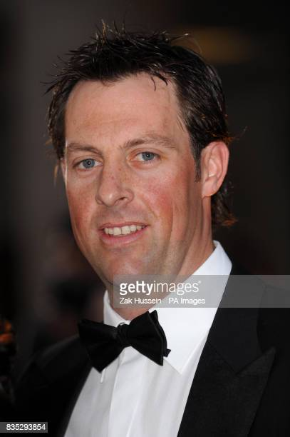 Marcus Trescothick arrives for the Galaxy British Book Awards 2009 at the Grosvenor House Hotel on Park Lane central London