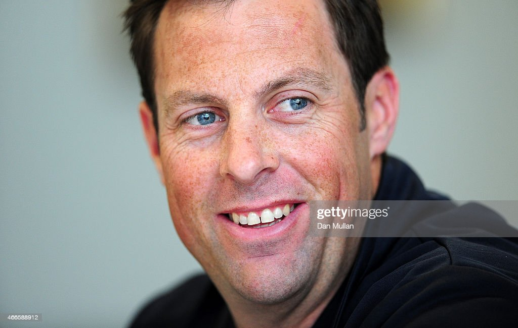 Marcus Trescothick Captain of Somerset speaks to the media during the Somerset CCC Photocall at The County Ground on March 17 2015 in Taunton England