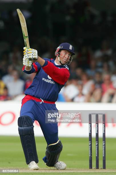 Marcus Trescothick of England bats during his innings of 67 runs in the 1st NatWest Series One Day International between England and Sri Lanka at...
