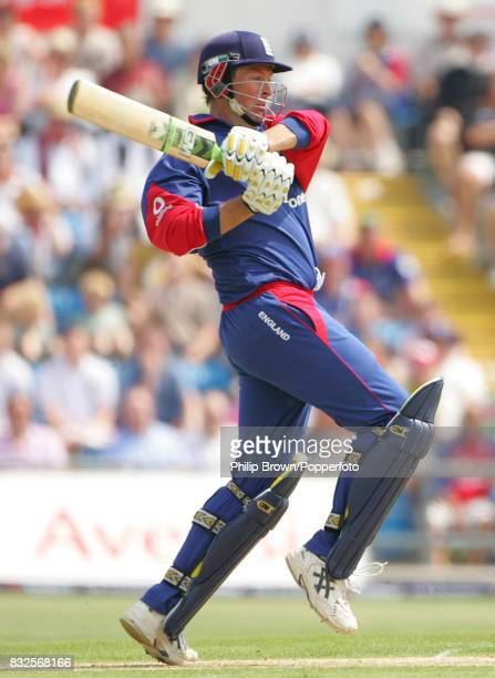Marcus Trescothick of England batting during his innings of 121 runs in the 5th NatWest Series One Day International between England and Sri Lanka at...