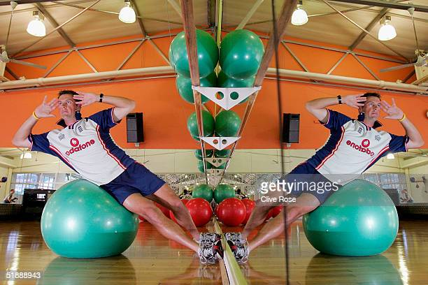 Marcus Trescothick of England in the gym during a training session ahead of the second Test Match between South Africa and England in Umhlanga on...