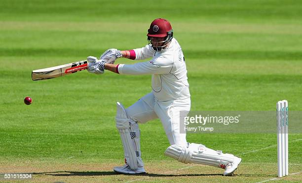 Marcus Trescothick of Somerset bats during Day One of the Specsavers County Championship Division One match between Somerset and Yorkshire at the...