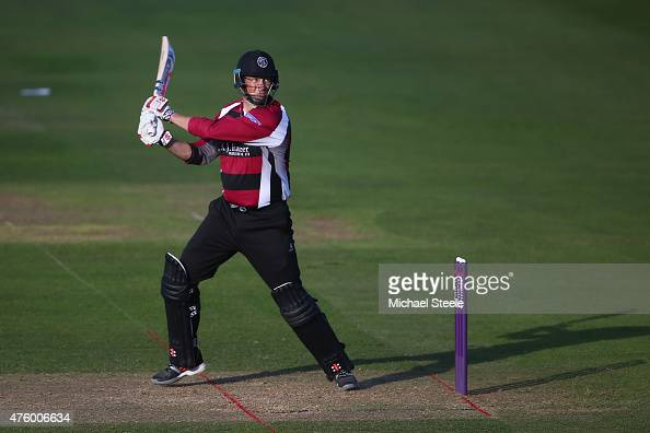 Marcus Trescothick of Somerset during the NatWest T20 Blast match between Somerset and Hampshire at The County Ground on June 5 2015 in Taunton...