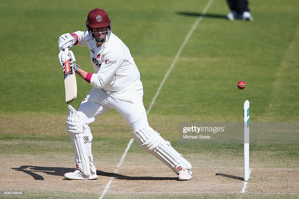 <a gi-track='captionPersonalityLinkClicked' href=/galleries/search?phrase=Marcus+Trescothick&family=editorial&specificpeople=171643 ng-click='$event.stopPropagation()'>Marcus Trescothick</a> of Somerset plays a shot behind point during day four of the Specsavers County Championship Division One match between Somerset and Lancashire at The Cooper Associates County Ground on May 4, 2016 in Somerset, United Kingdom.