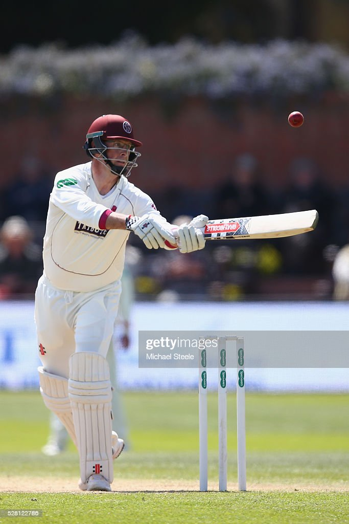 <a gi-track='captionPersonalityLinkClicked' href=/galleries/search?phrase=Marcus+Trescothick&family=editorial&specificpeople=171643 ng-click='$event.stopPropagation()'>Marcus Trescothick</a> of Somerset prevents the ball dropping onto his stumps during day four of the Specsavers County Championship Division One match between Somerset and Lancashire at The Cooper Associates County Ground on May 4, 2016 in Somerset, United Kingdom.