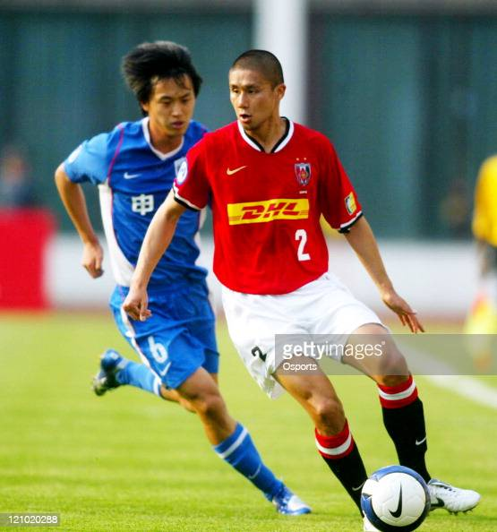 Marcus Tulio Tanaka of Japan's Urawa Reds in during the Group E match in the AFC Champions League at Yuanshen Stadium on April 25 2007 The match...