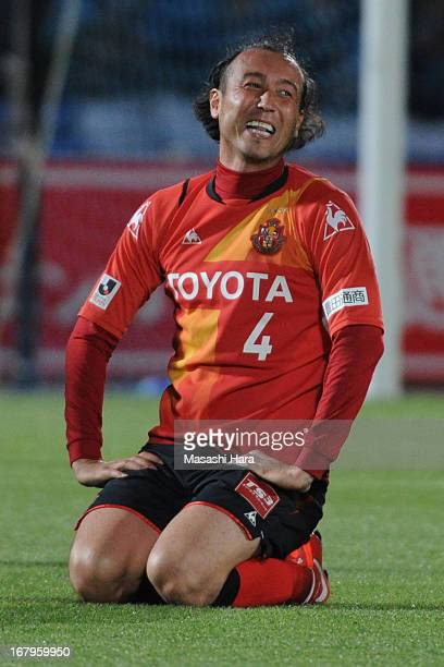 Marcus Tulio Tanaka of Nagoya Grampus looks on during the JLeague match between Kawasaki Frontale and Nagoya Grampus at Todoroki Stadium on May 3...