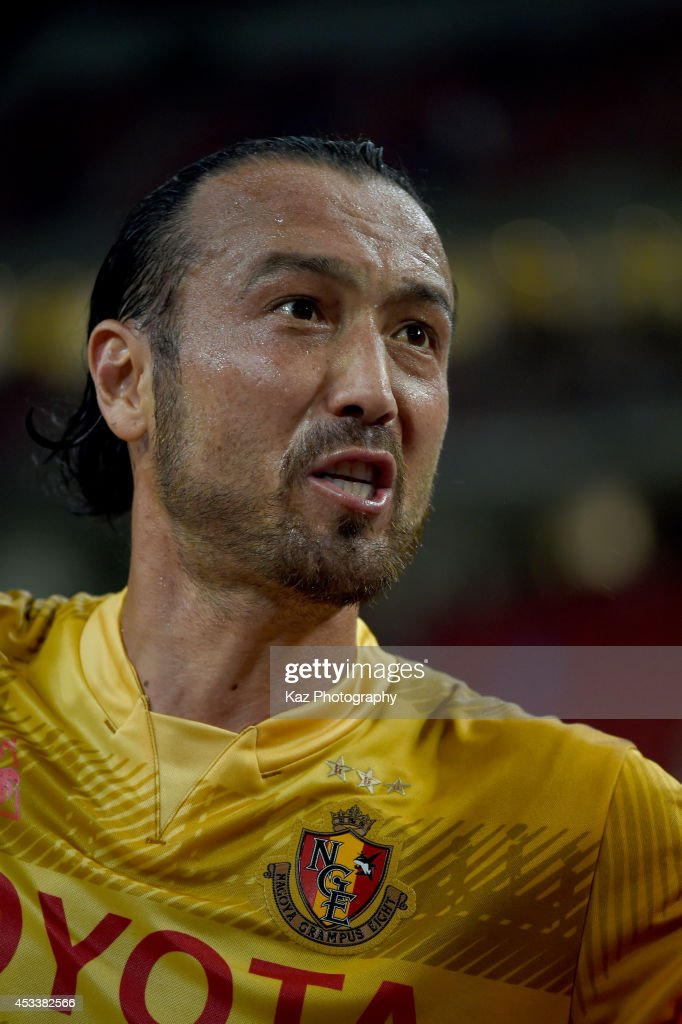 <a gi-track='captionPersonalityLinkClicked' href=/galleries/search?phrase=Marcus+Tulio+Tanaka&family=editorial&specificpeople=1541600 ng-click='$event.stopPropagation()'>Marcus Tulio Tanaka</a> of Nagoya Grampus reacts to supporters anger during the J. League match between Nagoya Grampus and Kashima Antlers at the Toyota Stadium on August 9, 2014 in Toyota, Japan.