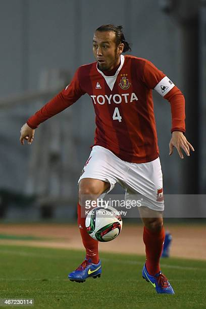 Marcus Tulio Tanaka of Nagoya Grampus trapps the ball during the JLeague match between Nagoya Grampus and Kashima Antlers at Mizuho Stadium on March...