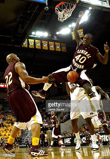 Marcus Van of the Central Michigan University Chippewas dunks against the Missouri Tigers during the first half of the game on November 12 2007 at...