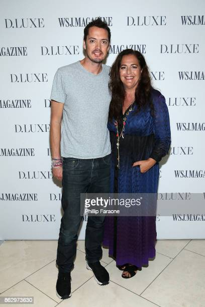 Marcus Wainwright and Angela Missoni attend DLUXE presented by WSJ Magazine at The Montage Laguna Beach on October 18 2017 in Laguna Beach California