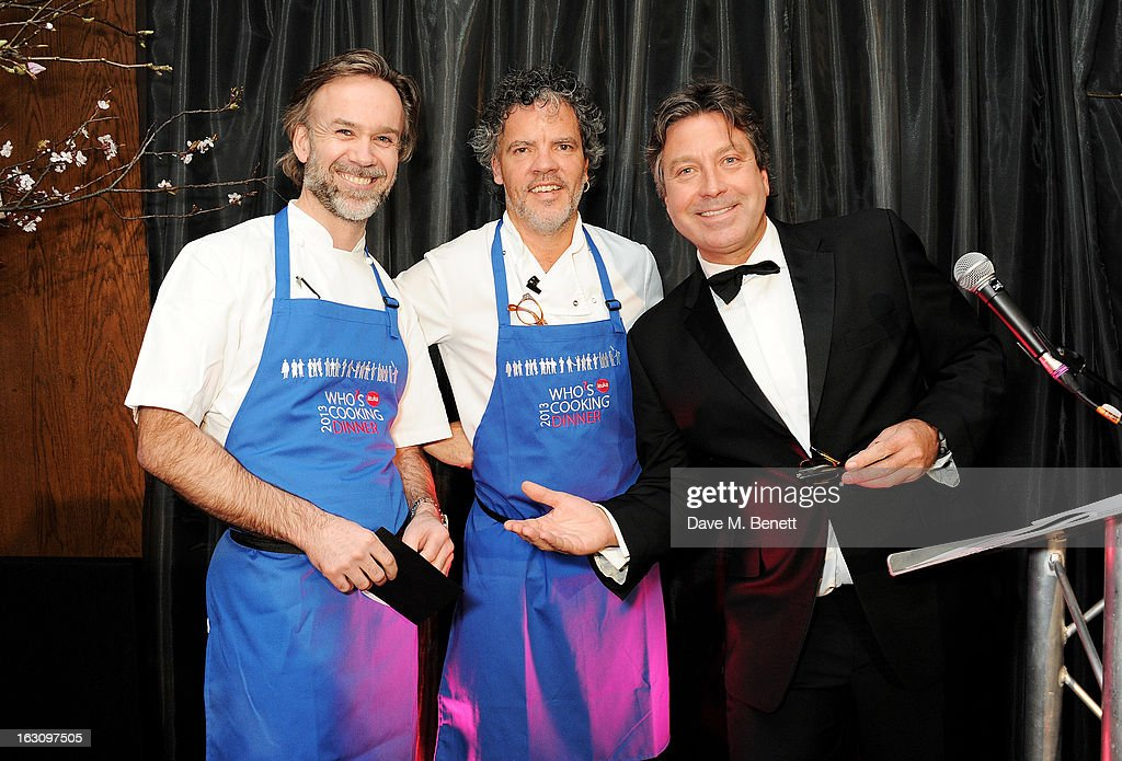 Marcus Wareing, Peter Gordon and John Torode attend the 'Who's Cooking Dinner?' charity event, featuring 20 of the capital's finest chefs cooking dinner for 200 diners in aid of leukaemia charity Leuka, at the Four Seasons Hotel on March 4, 2013 in London, England.
