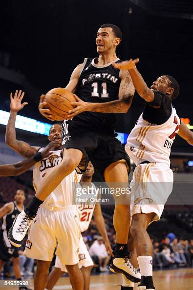 Marcus Williams of the Austin Toros goes hard to the hoop against the Bakersfield Jam in a NBAD League Game at the Rabobank Arena on February 19 2009...