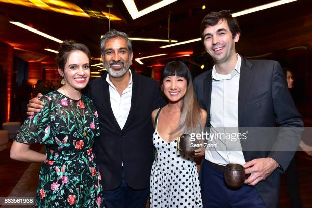 Marcy Clark Vishaan Chakrabarti Jen Chang and David Linehan attend American Copper Building's Skybridge party hosted by JDS Development at American...