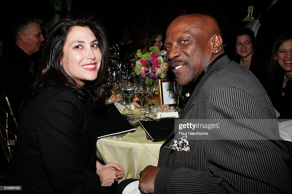 Marcy Granata co-chair of the Academy of Motion Picture Arts & Sciences New York Oscar Night Celebration and actor Louis Gossett Jr. pose for a photo as they attend the Academy of Motion Picture Arts & Sciences New York Oscar Night Celebration at The St. Regis Hotel March 5, 2006 in New York City.