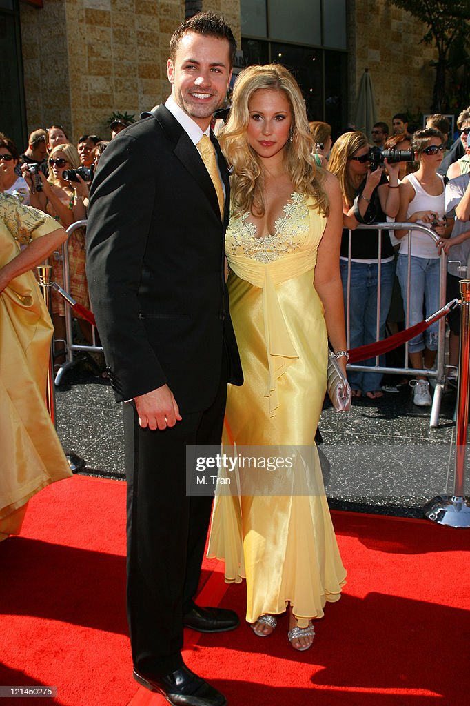 Marcy Rylan (right) and guest during 34th Annual Daytime Emmy Awards - Arrivals at Kodak Theatre in Hollywood, California, United States.